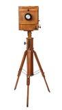 Εκλεκτής ποιότητας ξύλινη κάμερα άποψης Στοκ Φωτογραφίες