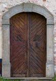 Εκλεκτής ποιότητας ξύλινη πόρτα Στοκ Εικόνες
