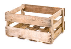 Εκλεκτής ποιότητας ξύλινο κιβώτιο κρασιού Στοκ φωτογραφία με δικαίωμα ελεύθερης χρήσης