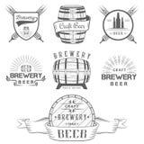 Εκλεκτής ποιότητας λογότυπο και διακριτικό ζυθοποιείων μπύρας τεχνών απεικόνιση αποθεμάτων