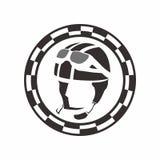 Εκλεκτής ποιότητας λογότυπο ποδηλατών Στοκ Εικόνες