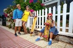 Εκλεκτής ποιότητας οικογένεια Στοκ Εικόνες