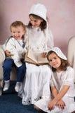 Εκλεκτής ποιότητας οικογενειακό πορτρέτο Στοκ εικόνα με δικαίωμα ελεύθερης χρήσης