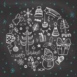 Εκλεκτής ποιότητας πίνακας κιμωλίας Χριστουγέννων Στοκ Φωτογραφία