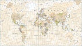 Εκλεκτής ποιότητας παγκόσμιος χάρτης - διανυσματική απεικόνιση διανυσματική απεικόνιση