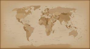 Εκλεκτής ποιότητας παγκόσμιος χάρτης απεικόνιση αποθεμάτων