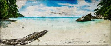 Εκλεκτής ποιότητας πανόραμα παραλιών Στοκ εικόνες με δικαίωμα ελεύθερης χρήσης