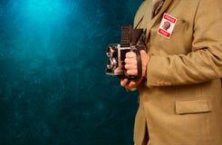 Εκλεκτής ποιότητας παπαράτσι photograher Στοκ φωτογραφία με δικαίωμα ελεύθερης χρήσης