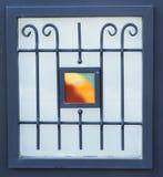 Εκλεκτής ποιότητας παράθυρο διακοσμήσεων τέχνης μετάλλων Φιλτραρισμένη εικόνα Στοκ φωτογραφίες με δικαίωμα ελεύθερης χρήσης