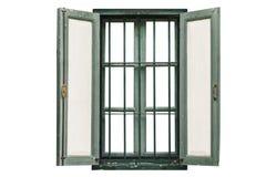 Εκλεκτής ποιότητας παράθυρο στο λευκό Στοκ Εικόνες