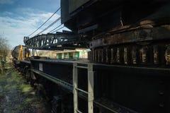 Εκλεκτής ποιότητας παλαιός εξοπλισμός γερανών τραίνων κινητήριος Στοκ Φωτογραφία