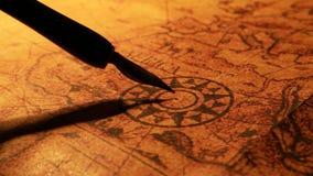 Εκλεκτής ποιότητας παλαιός χάρτης απόθεμα βίντεο