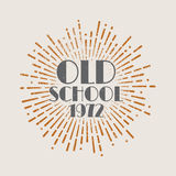 Εκλεκτής ποιότητας παλιό σχολείο ετικετών ηλιοφάνειας αφηρημένο αναδρομικό απεικόνιση αποθεμάτων