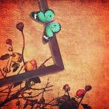 Εκλεκτής ποιότητας περίληψη τέχνης πεταλούδων Στοκ Φωτογραφία