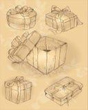 Εκλεκτής ποιότητας περικάλυμμα δώρων Στοκ εικόνα με δικαίωμα ελεύθερης χρήσης