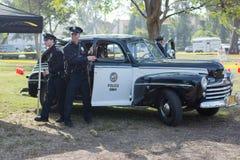 Εκλεκτής ποιότητας περιπολικό της Αστυνομίας της Ford στην επίδειξη Στοκ Φωτογραφία