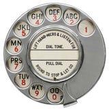 Εκλεκτής ποιότητας περιστροφικός τηλεφωνικός πίνακας Στοκ εικόνα με δικαίωμα ελεύθερης χρήσης