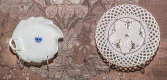 Εκλεκτής ποιότητας πιάτο Σαξωνία Farfor, μέσος-18$ος αιώνας Στοκ Εικόνα