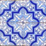 Εκλεκτής ποιότητας πορτογαλικά μπλε κεραμίδια Στοκ Φωτογραφίες