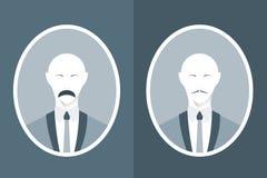 Εκλεκτής ποιότητας πορτρέτο του ατόμου στο κοστούμι με το mustache στοκ εικόνες