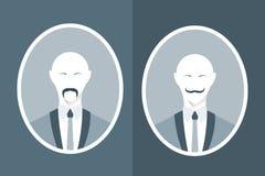 Εκλεκτής ποιότητας πορτρέτο του ατόμου στο κοστούμι με το mustache στοκ φωτογραφία