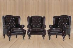 Εκλεκτής ποιότητας πολυθρόνα δέρματος Στοκ Φωτογραφίες
