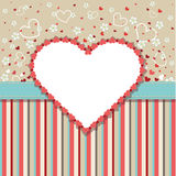 Εκλεκτής ποιότητας πρότυπο γαμήλιου σχεδίου με τις καρδιές, λουλούδι Στοκ Εικόνες