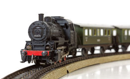 Εκλεκτής ποιότητας πρότυπο ηλεκτρικό τραίνο στις ράγες στοκ φωτογραφία