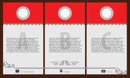 Εκλεκτής ποιότητας πρότυπο σχεδίου φυλλάδιων και ιπτάμενων, δημιουργικά στοιχεία τέχνης Στοκ Φωτογραφία