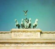 Εκλεκτής ποιότητας πύλη του Βραδεμβούργου (σκαπάνη Brandenburger) Στοκ Εικόνες