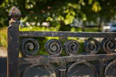 Εκλεκτής ποιότητας πύλη χυτοσιδήρου Στοκ Φωτογραφίες