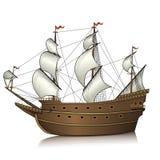 Εκλεκτής ποιότητας πλέοντας σκάφος με την αντανάκλαση Στοκ Εικόνες