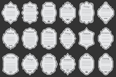 Εκλεκτής ποιότητας πλαίσια διανυσμάτων στο υπόβαθρο Στοκ Φωτογραφία