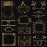 Εκλεκτής ποιότητας πλαίσια και στοιχεία του Art Deco Στοκ Φωτογραφία