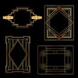 Εκλεκτής ποιότητας πλαίσια του Art Deco Στοκ Εικόνες