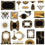 Εκλεκτής ποιότητας πλαίσια του Art Deco Στοκ φωτογραφία με δικαίωμα ελεύθερης χρήσης