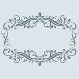 Εκλεκτής ποιότητας πλαίσιο με τα φύλλα Στοκ εικόνες με δικαίωμα ελεύθερης χρήσης