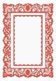 Εκλεκτής ποιότητας πλαίσιο με το floral σχέδιο Στοκ φωτογραφία με δικαίωμα ελεύθερης χρήσης