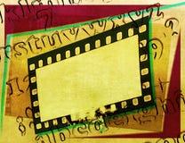 Εκλεκτής ποιότητας πλαίσιο λουρίδων ταινιών με τις επιστολές αλφάβητου Στοκ φωτογραφία με δικαίωμα ελεύθερης χρήσης