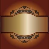 Εκλεκτής ποιότητας πλαίσιο σε ένα καφετί υπόβαθρο Στοκ Εικόνα
