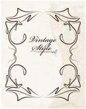 Εκλεκτής ποιότητας πλαίσιο σε παλαιό κατασκευασμένο χαρτί Στοκ Εικόνα