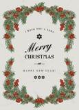 Εκλεκτής ποιότητας πλαίσιο Χριστουγέννων Στοκ εικόνα με δικαίωμα ελεύθερης χρήσης