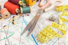Εκλεκτής ποιότητας ράβοντας στοιχεία Στοκ φωτογραφία με δικαίωμα ελεύθερης χρήσης