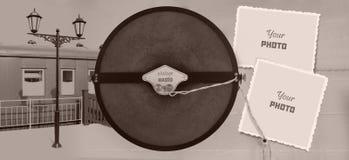 Εκλεκτής ποιότητας ραδιο πλαίσιο φωτογραφιών Στοκ Εικόνα