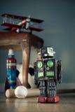 Εκλεκτής ποιότητας ρομπότ παιχνιδιών Στοκ φωτογραφίες με δικαίωμα ελεύθερης χρήσης