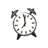 Εκλεκτής ποιότητας ρολόι με το συναγερμό απεικόνιση αποθεμάτων