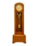 Εκλεκτής ποιότητας ρολόι παππούδων στο λευκό Στοκ φωτογραφία με δικαίωμα ελεύθερης χρήσης