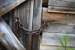 Εκλεκτής ποιότητας σάπια ξύλινη πόρτα Στοκ Εικόνα