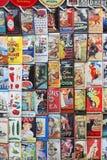 Εκλεκτής ποιότητας σημάδια κασσίτερου Στοκ εικόνα με δικαίωμα ελεύθερης χρήσης