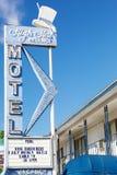 Εκλεκτής ποιότητας σημάδι και δωμάτια μοτέλ στο Λας Βέγκας στοκ εικόνες